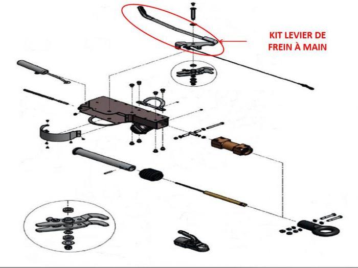 Levier de frein pour Tête KNOTT AHV25 / AHV35