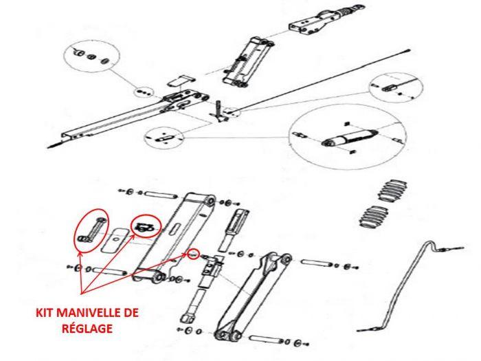 Kite manivelle de réglage pour tête KNOTT KHD15