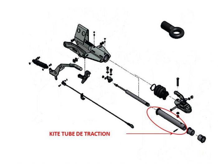 Tube de traction pour tête KNOTT KF 7,5 - KF 13 - KF 20