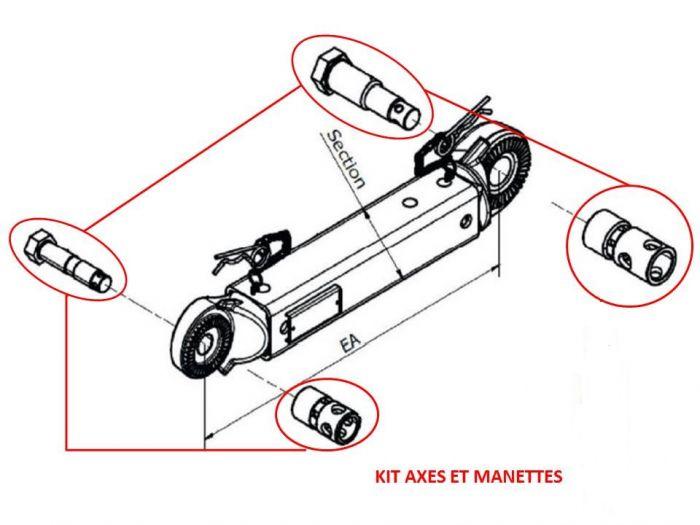 Kit axes et manettes pour tête KNOTT AUTOFLEX AHV25/35