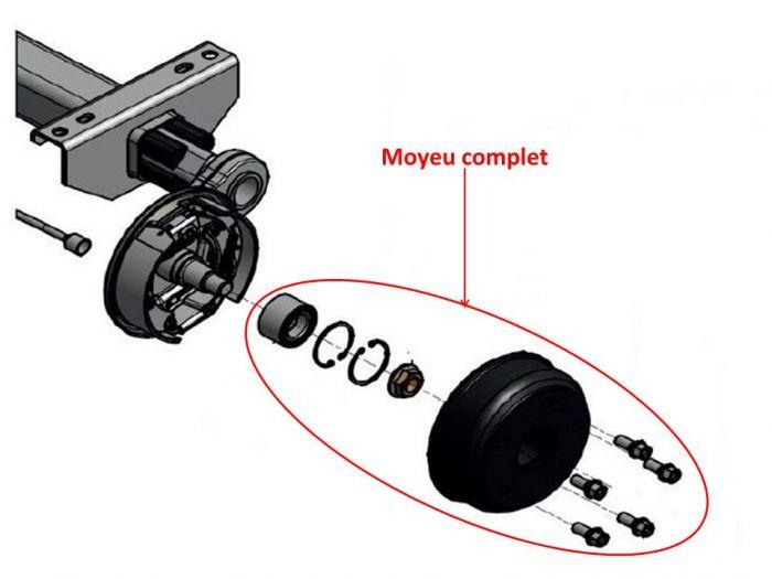 Moyeu complet 4 trous 100 mm KNOTT F160 / 160x35 / 16-1365