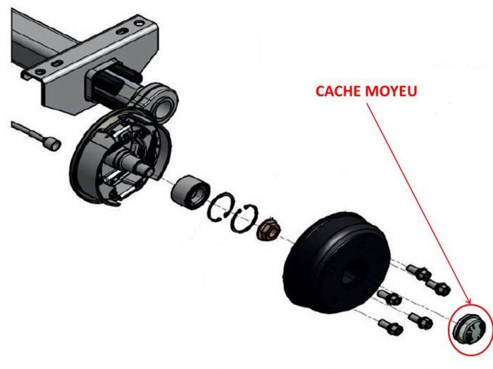 Cache moyeu KNOTT remorque diamètre 52.1 mm