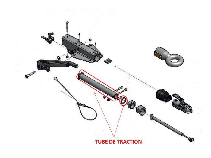 Tube de traction pour tête AL-KO 90S - 90S/3