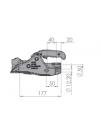 Boitier d'attelage pour tube rond 50mm  - ALKO AK301