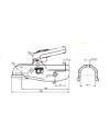 Boitier d'attelage pour tube rond - 3500kg - steelpress